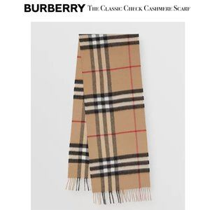 "BURBERRY Women's ""The Classic Check Cashmere Scarf"